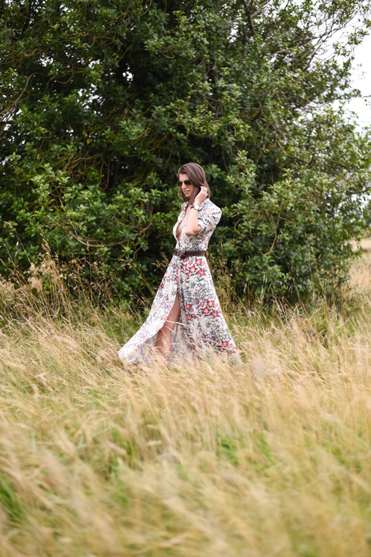 Zara floral button maxi dress - Thankfifi Scottish fashion blog-13
