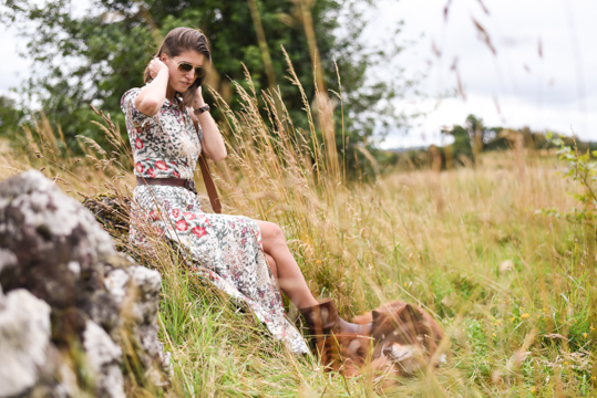 Zara floral button maxi dress - Thankfifi Scottish fashion blog-4