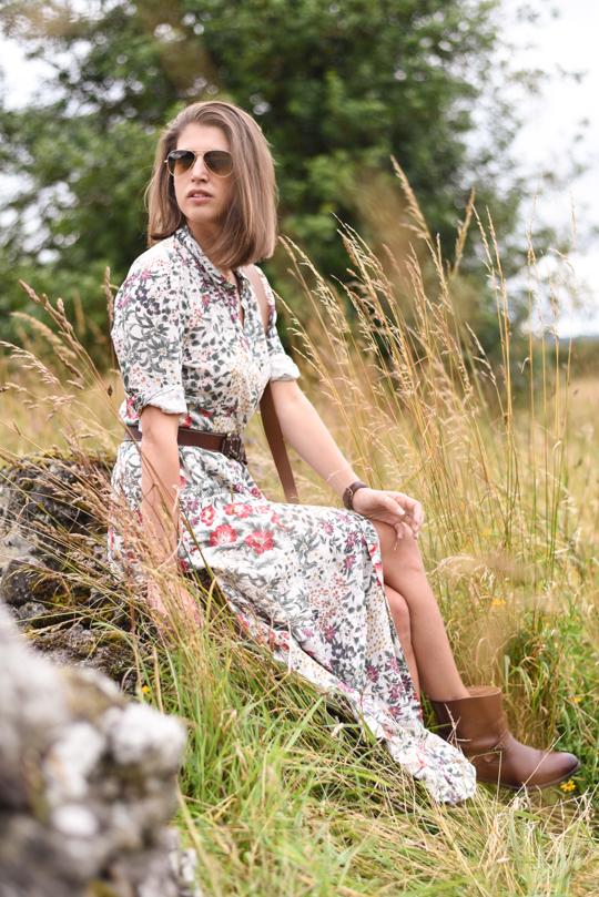 Zara floral button maxi dress - Thankfifi Scottish fashion blog-6