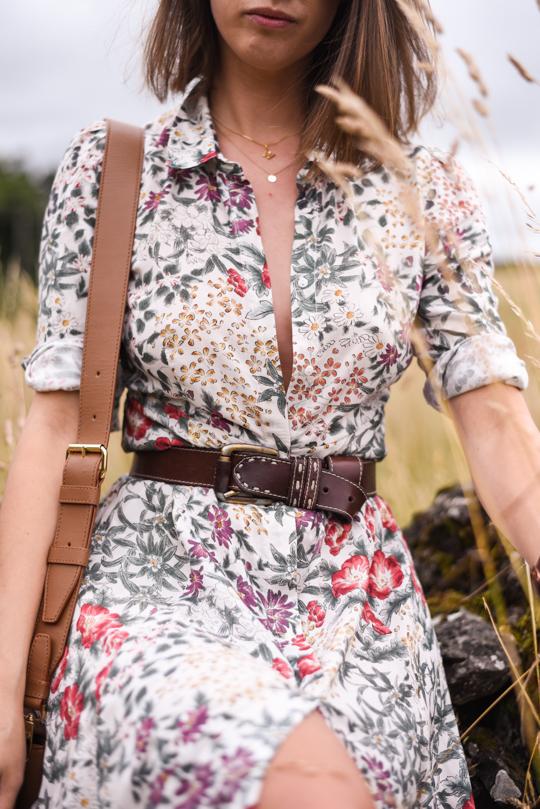 Zara floral button maxi dress - Thankfifi Scottish fashion blog-8
