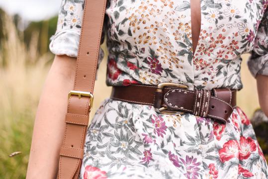 Zara floral button maxi dress - Thankfifi Scottish fashion blog-9