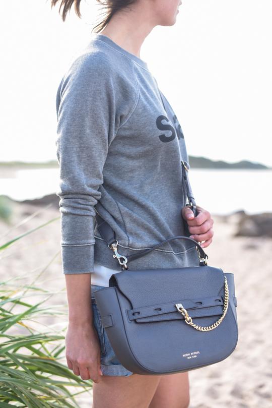 Henri Bendel Gramercy Messenger Bag in Magnet - Thankfifi Scottish travel blog