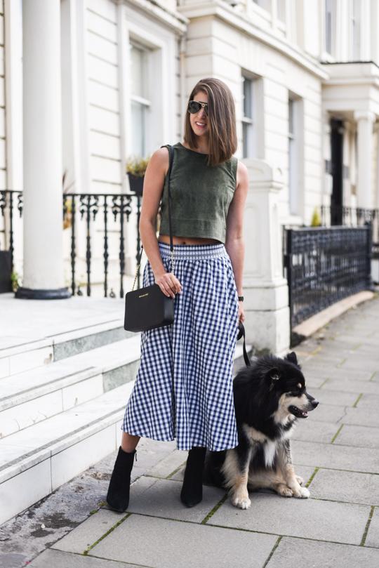Zara gingham midi skirt - Thankfifi Scottish fashion blog-1