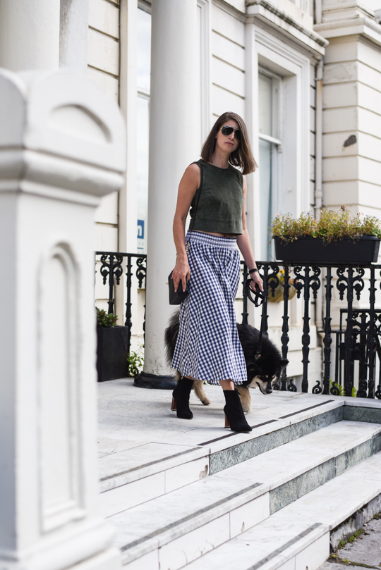 Zara gingham midi skirt - Thankfifi Scottish fashion blog-2