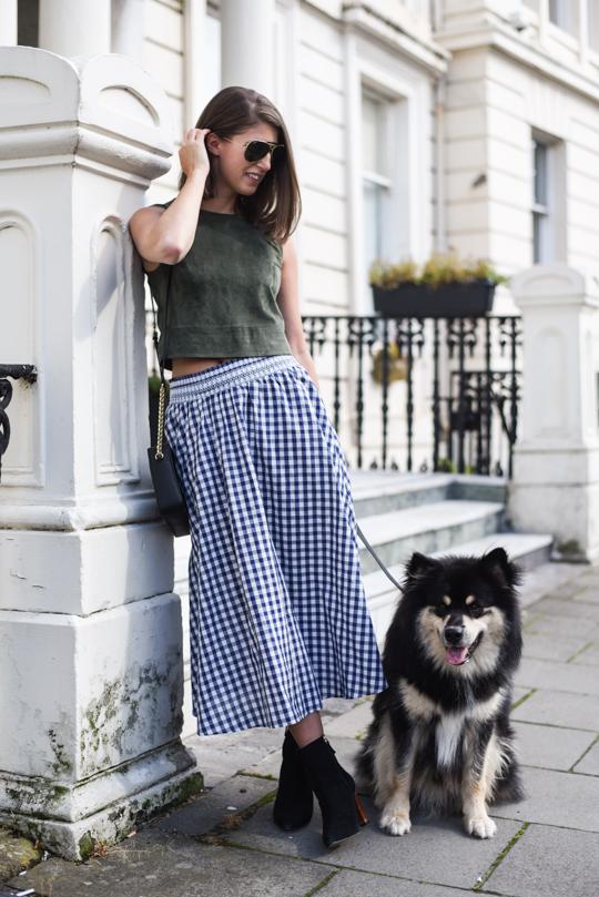 Zara gingham midi skirt - Thankfifi Scottish fashion blog-4