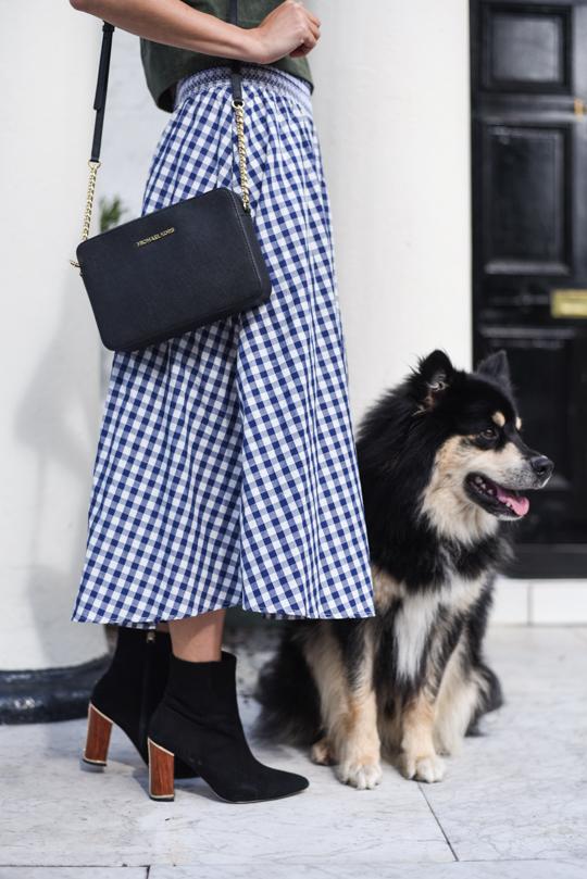 Zara gingham midi skirt - Thankfifi Scottish fashion blog-6