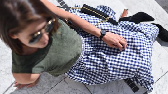 Zara gingham midi skirt - Thankfifi Scottish fashion blog-7