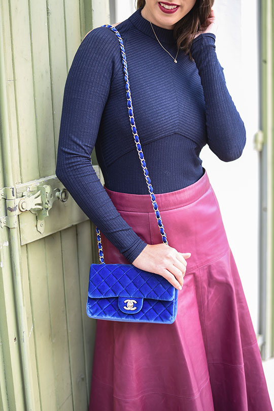 chateau-lhospitalet-chanel-blue-velvet-flap-bag-thankfifi-scottish-travel-blog-4