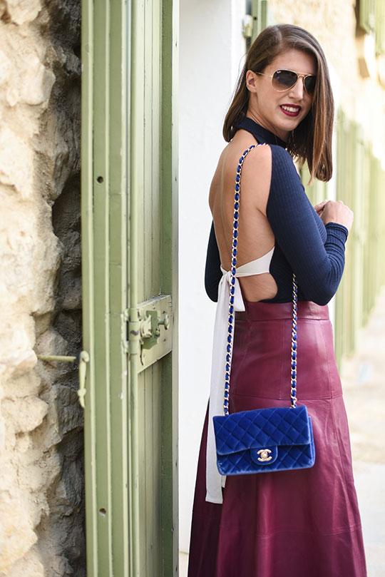 chateau-lhospitalet-chanel-blue-velvet-flap-bag-thankfifi-scottish-travel-blog-6