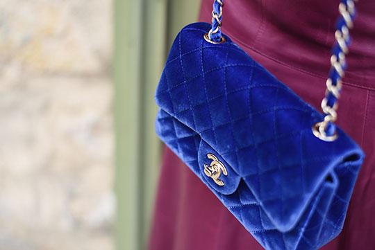 chateau-lhospitalet-chanel-blue-velvet-flap-bag-thankfifi-scottish-travel-blog-8