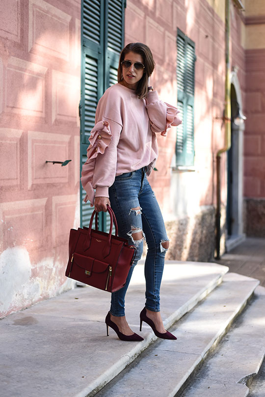 storets-leria-pink-ruffle-sleeve-top-henri-bendel-rivington-tote-thankfifi-scottish-fashion-blog-2