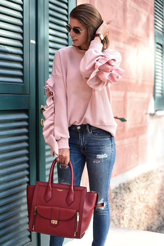storets-leria-pink-ruffle-sleeve-top-henri-bendel-rivington-tote-thankfifi-scottish-fashion-blog-8