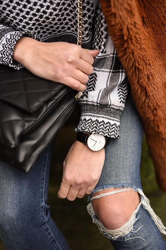 Cecilie-Copenhagen-scarf-blouse-&-Karen-Millen-teddy-fur-coat---Thankfifi-Scottish-fashion-blog-10