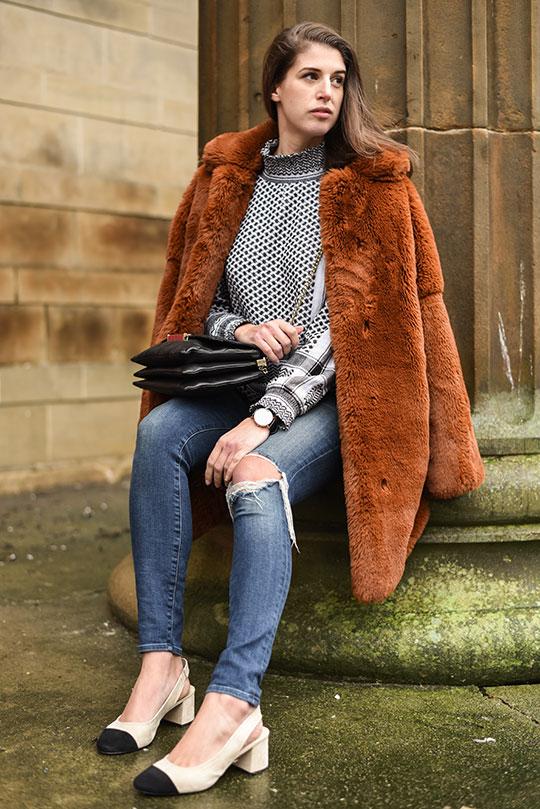 Cecilie-Copenhagen-scarf-blouse-&-Karen-Millen-teddy-fur-coat---Thankfifi-Scottish-fashion-blog-12