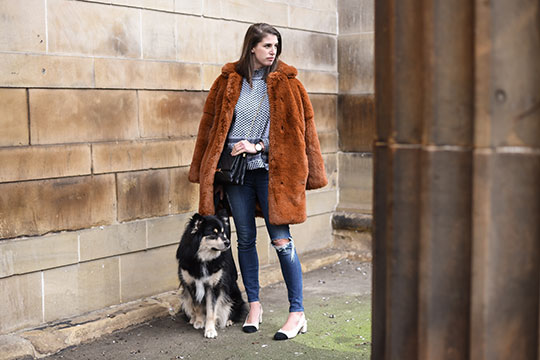 Cecilie-Copenhagen-scarf-blouse-&-Karen-Millen-teddy-fur-coat---Thankfifi-Scottish-fashion-blog-3