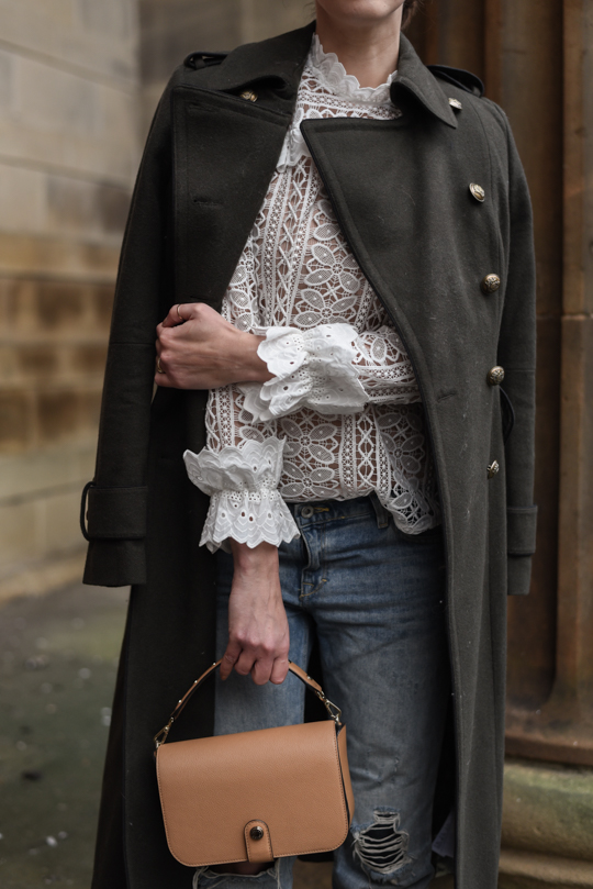 Monsoon victoriana lace blouse & Henri Bendel Cooper Crossbody - Thankfifi Scottish fashion blog-7