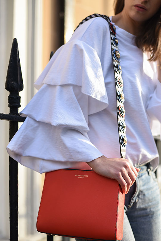 H&M-frill-sleeve-top-&-Henri-Bendel-red-west-57th-turnlock-satchel---Thankfifi-Scottish-fashion-blog-11
