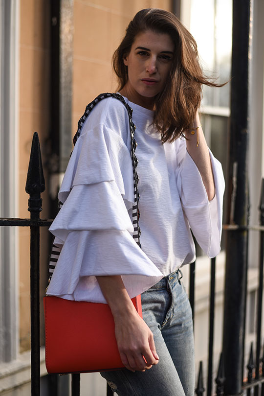 H&M-frill-sleeve-top-&-Henri-Bendel-red-west-57th-turnlock-satchel---Thankfifi-Scottish-fashion-blog-7
