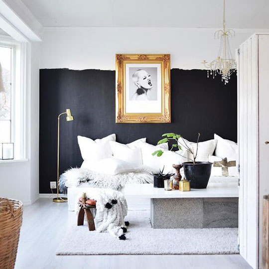 Dream space dreaming bedroom thankfifi uk fashion - Black painted bedroom walls ...