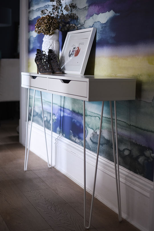 Home Tour Console Table Ikea Hack Thankfifi